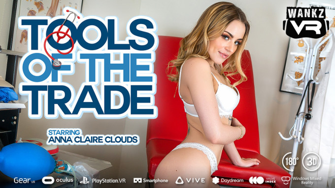 Anna Claire Clouds Makes WankzVR Debut in 'Tools of the Trade'
