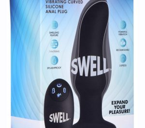 Swell 10x Inflatable and Vibrating Curved Anal Plug – XR Brands