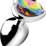 Booty Sparks Rainbow Prism Heart Medium Anal Plug – XR Brands