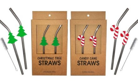 Kheper Expands Holiday Line to Include Holiday Metal Straw Sets