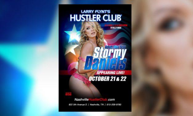 Stormy Daniels to Headline Hustler Club Nashville During Presidential Debate