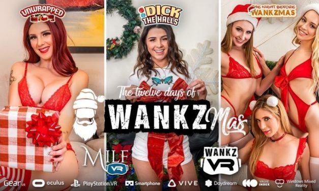 WankzVR, MILF VR Unwrap 3 Holiday Titles for 'Wankzmas'