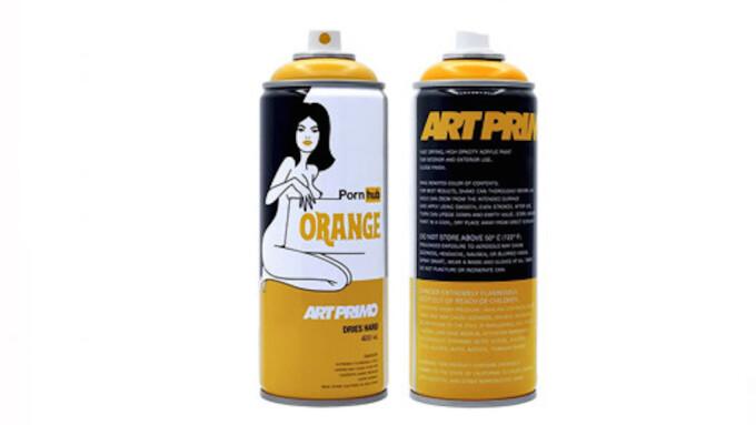 Pornhub Releases Graffiti Spray Paint Can in Signature Orange