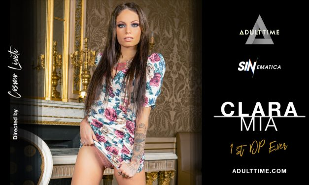 French starlet Clara Mia shoots 1st DP scene for sinematica