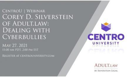 Corey Silverstein, CentroU to Lead 'Cyberbullies' Webinar
